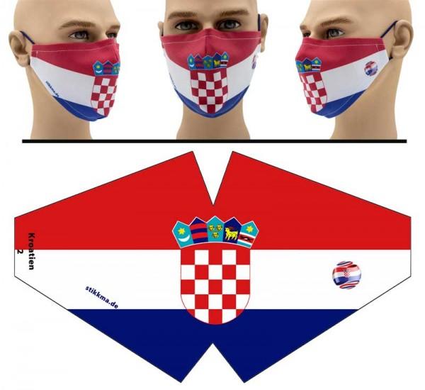 Kroatien - Face Pad Premium - Mund Nasen Behelfsmaske