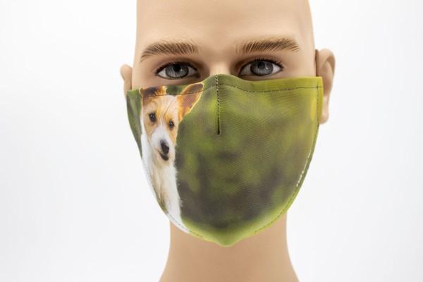 laufender Hund - Face Pad Premium -Mund- Nasen. Behelfsmaske