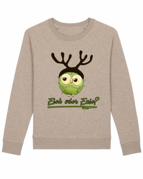 Damen Bio Sweatshirt Elch oder Eule