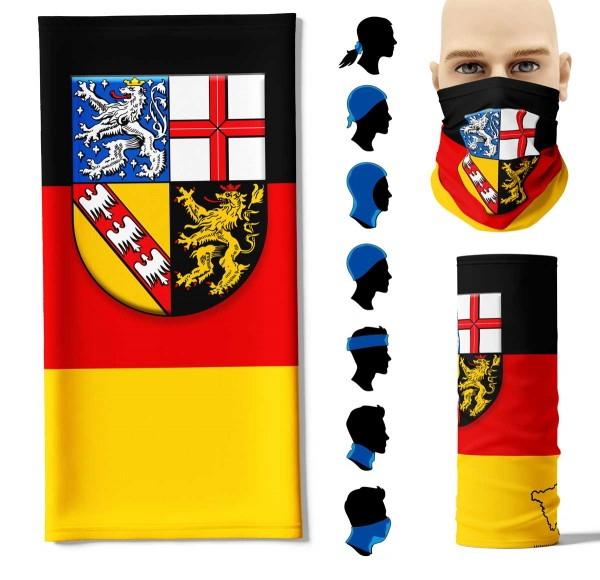 """Multifunktionstuch """"Saarland Flagge"""" Face Pad+"""