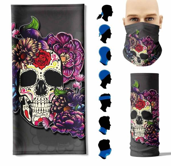 Multifunktionstuch Flower Skull Face Pad+