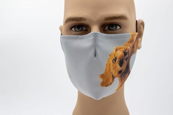 hängender Hund - Face Pad Premium - Mund- Nasen. Behelfsmaske