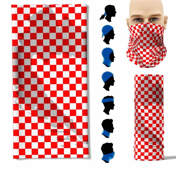 Multifunktionstuch Kroatien Umriss Face Pad+
