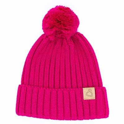 Wollmütze Cusco Uni Pink, Classic Collection Bommel wechsel Dich