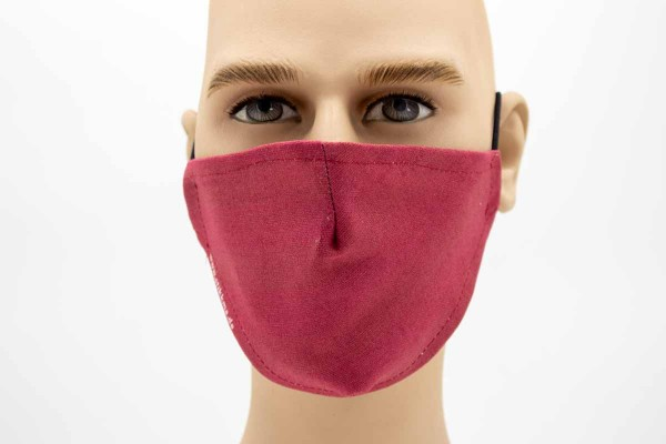 Gesichtsmaske - Face Pad Rot Mund- Nasen. Behelfsmaske