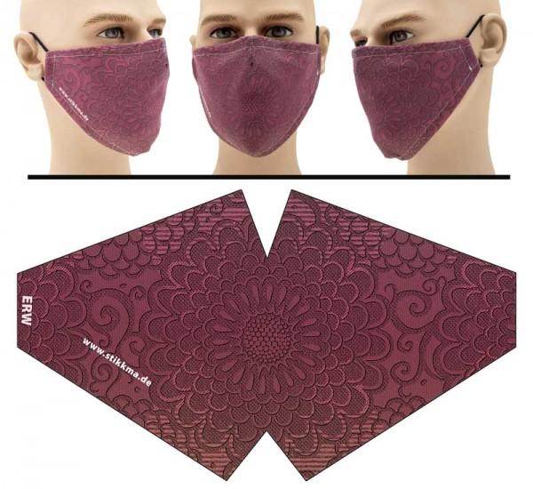 Pattern Rot - Face Pad Premium - Mund Nasen Behelfsmaske