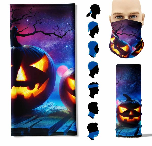 "Multifunktionstuch ""Halloween Kürbis"" Face Pad+-"