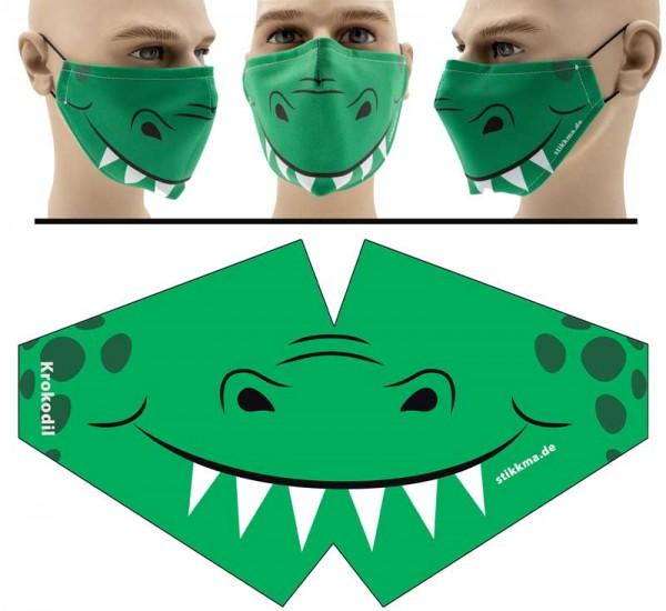 Krokodil - Face Pad Premium - Mund Nasen Behelfsmaske