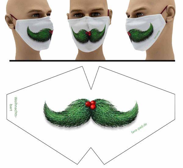 Weihnachtsbart - Face Pad Premium - Mund Nasen Behelfsmaske