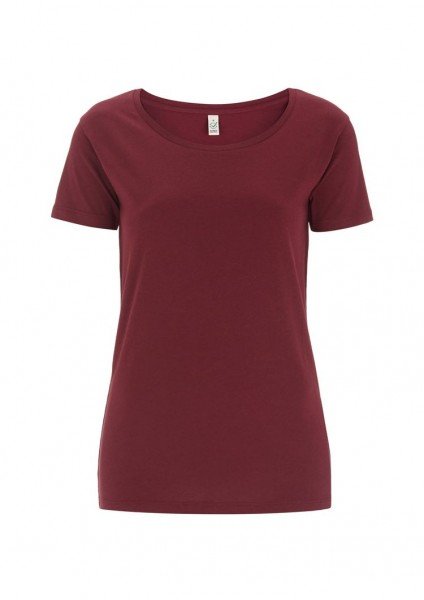 Ladies Bio Open Neck T-Shirt