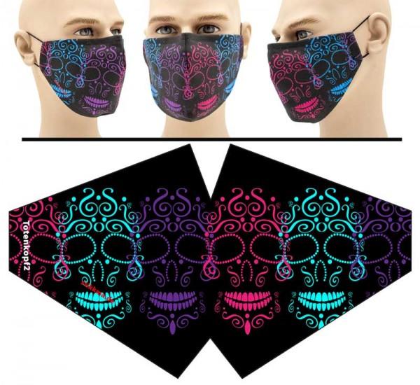 Totenkopf 3 - Face Pad Premium - Mund Nasen Behelfsmaske