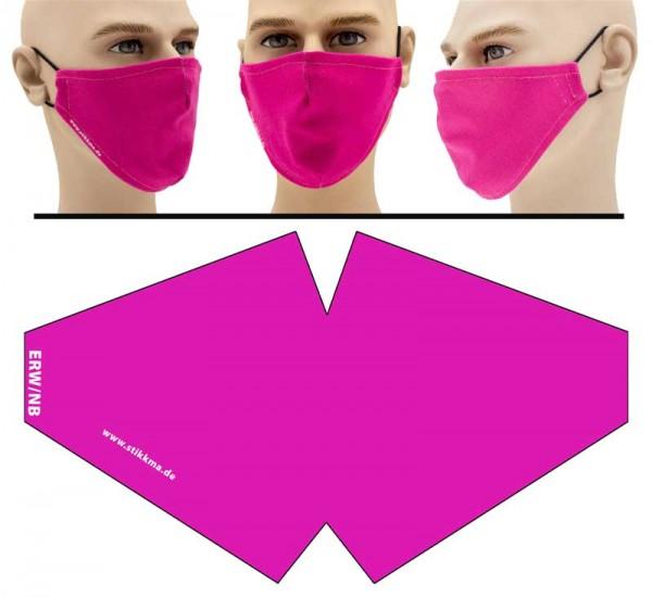 Pink - Face Pad Premium - Mund Nasen Behelfsmaske