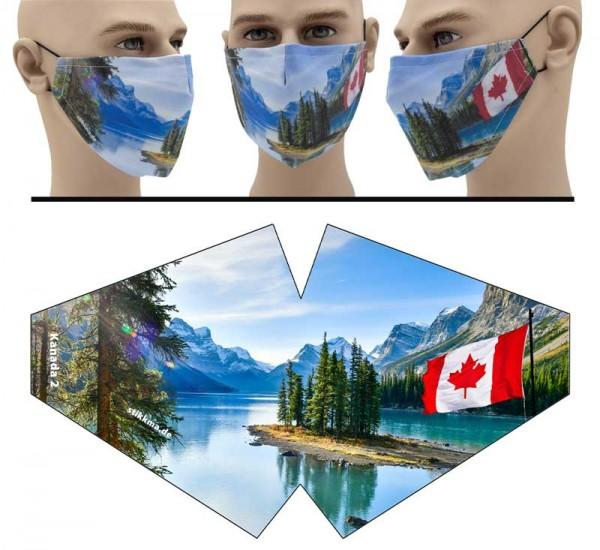 Kanada Natur - Face Pad Premium - Mund Nasen Behelfsmaske