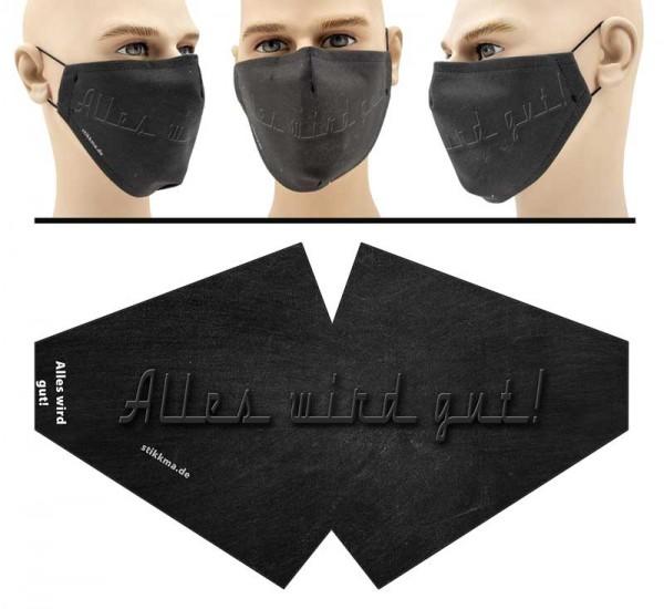 Alles wird gut - Face Pad Premium - Mund Nasen Behelfsmaske