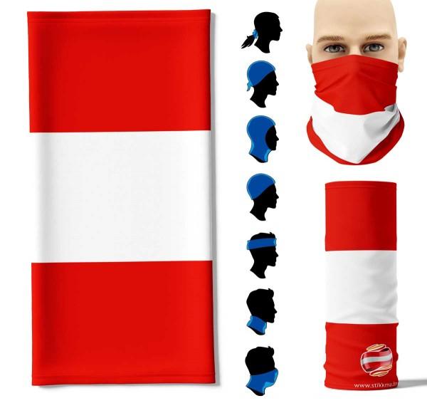 Multifunktionstuch Österreich Face Pad+