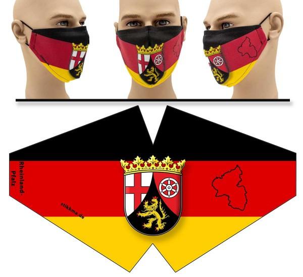 Rheinland-Pfalz - Face Pad - Mund Nasen Behelfsmaske