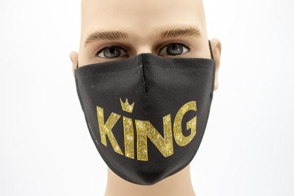Gesichtsmaske Face Pad Black King 2 Mund- Nasen- Behelfsmaske