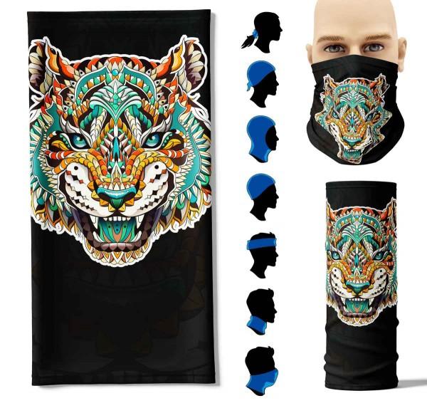 Multifunktionstuch Tribal Tiger Face Pad+