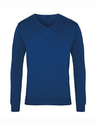 Pullover Men's V-Neck Knitted Sweater