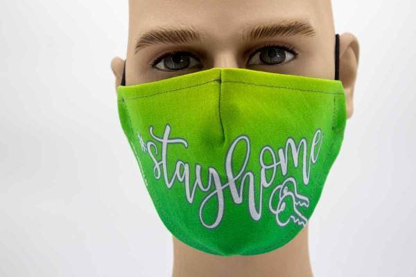 Gesichtsmaske - Face Pad Stay Home Mund- Nasen. Behelfsmaske