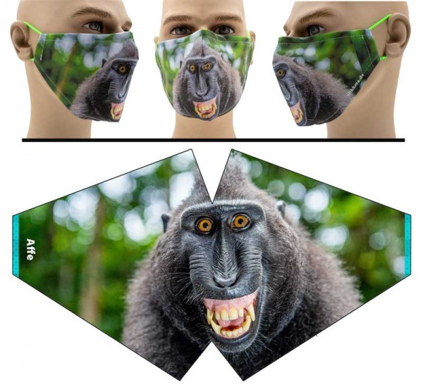 Affe - Face Pad Premium - Mund Nasen Behelfsmaske