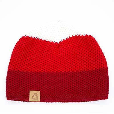 Wollmütze Frisco Rot gestreift
