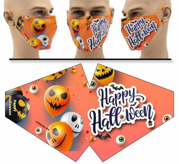 """Mund Nasen Behelfsmaske """"Happy Halloween 2"""" Face Pad"""