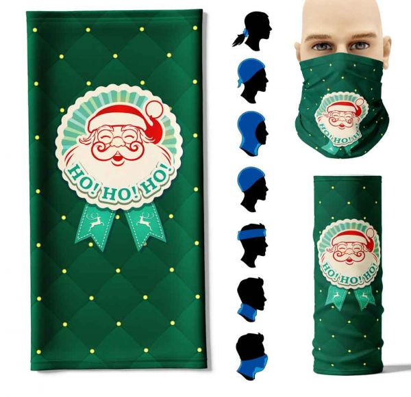 """Multifunktionstuch """"Weihnachtsbutton"""" Face Pad+"""