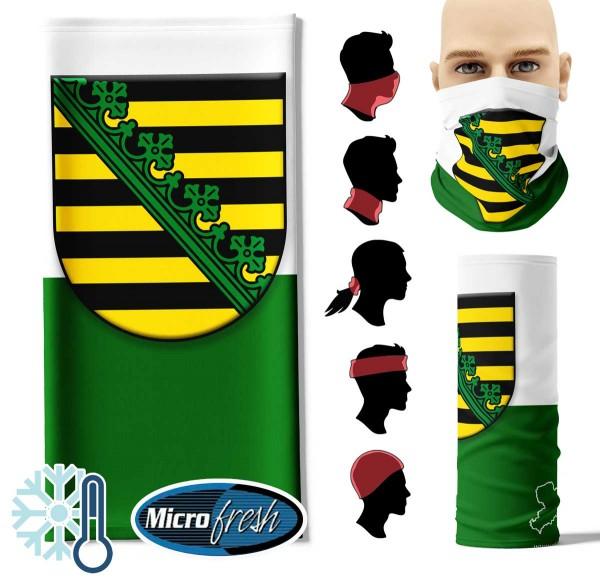 "Multifunktionstuch ""Sachsen Flag"" Face Pad++-"