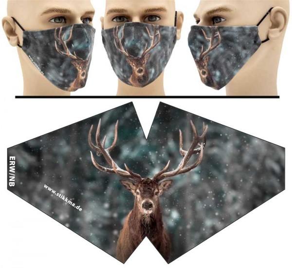 Hirsch - Face Pad Premium - Mund Nasen Behelfsmaske