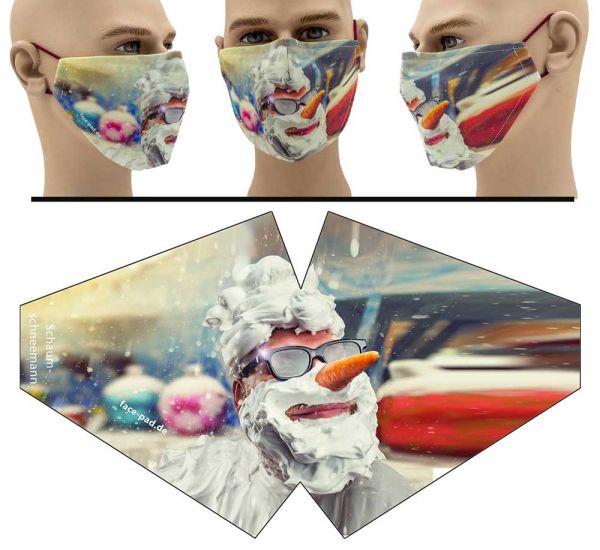 Schneemann - Face Pad Premium - Mund Nasen Behelfsmaske