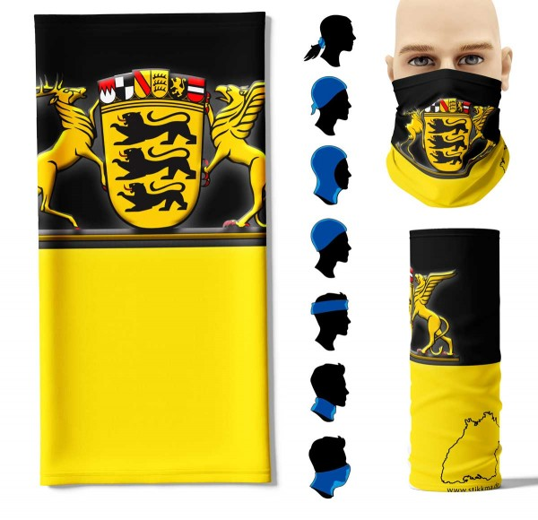 """Multifunktionstuch """"Baden Württemberg Flagge"""" Face Pad+"""