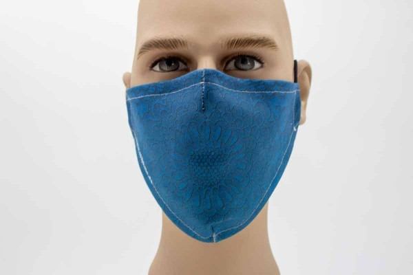 Gesichtsmaske - Face Pad Pattern Blue Mund- Nasen. Behelfsmaske