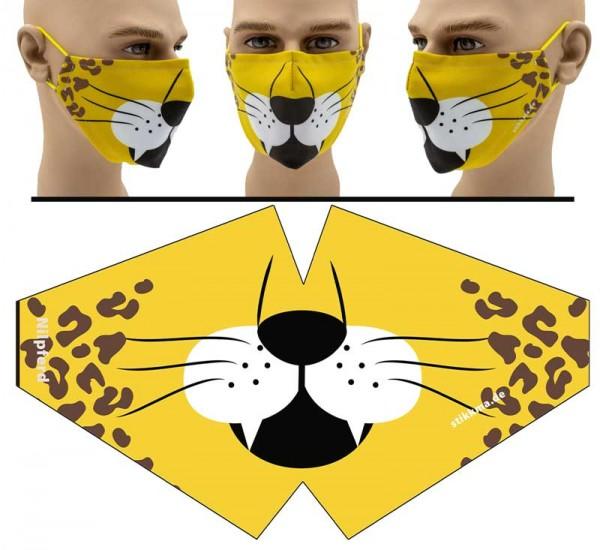 Löwe - Face Pad Premium - Mund Nasen Behelfsmaske