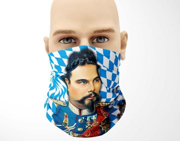 Multifunktionstuch Face Pad+ König Ludwig Full Size Mund- Nasen- Behelfsmaske Gesichtsmaske