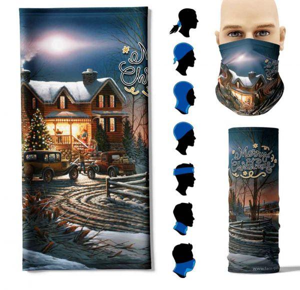 """Multifunktionstuch """"Retro-Weihnachtszeichnung 4"""" Face Pad+"""