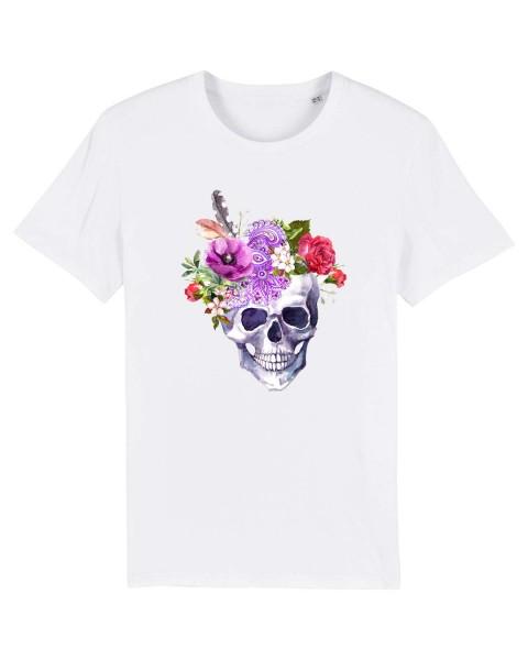 Bio T-Shirt Flower Skull