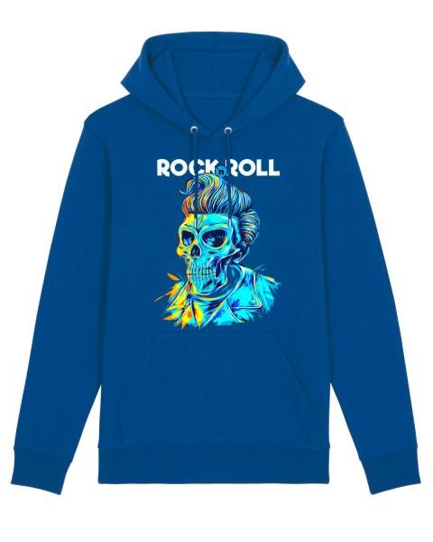 Bio Hoodie Rock'n'Roll Totenkopf