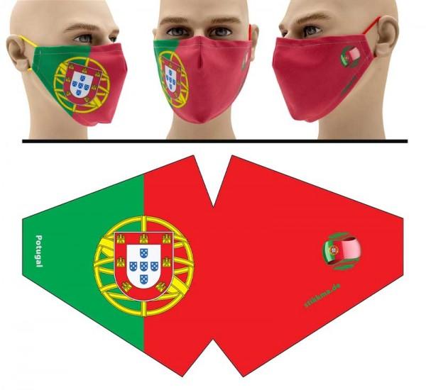 Portugal - Face Pad Premium - Mund Nasen Behelfsmaske