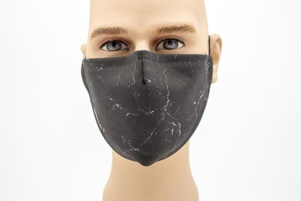 Gesichtsmaske Face Pad Black Marbles Mund- Nasen- Behelfsmaske