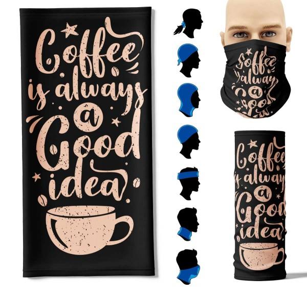 Multifunktionstuch Kaffee Face Pad+