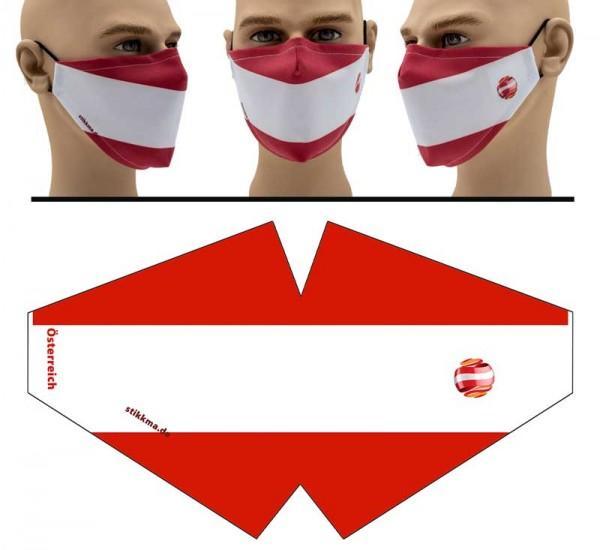 Österreich - Face Pad Premium - Mund Nasen Behelfsmaske