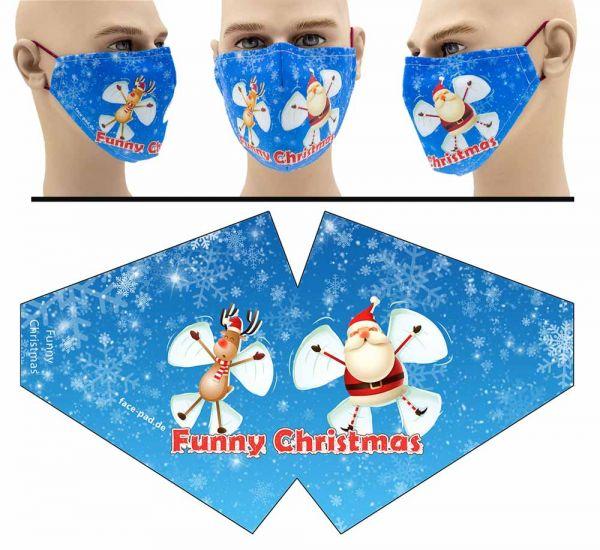 """Mund Nasen Behelfsmaske """"Funny Weihnachten"""" Face Pad"""