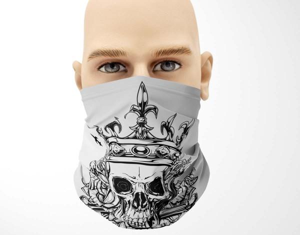 Multifunktionstuch Face Pad+ King Skull Mund- Nasen- Behelfsmaske Gesichtmaske