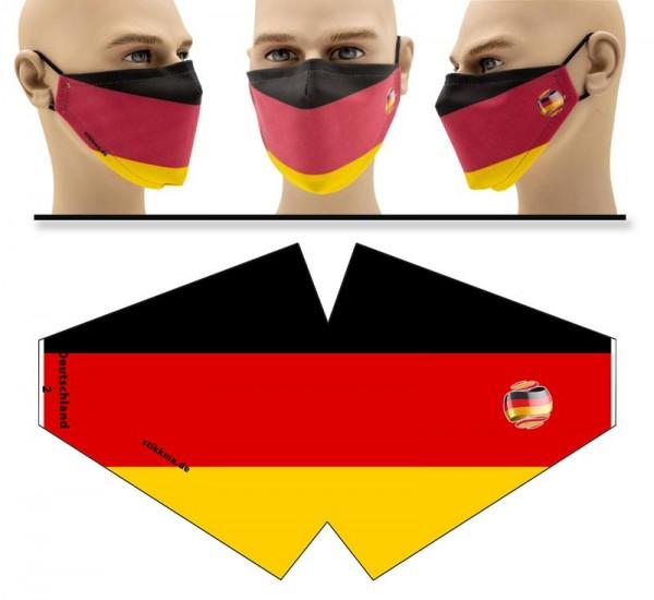 Deutschland - Face Pad Premium - Mund Nasen Behelfsmaske
