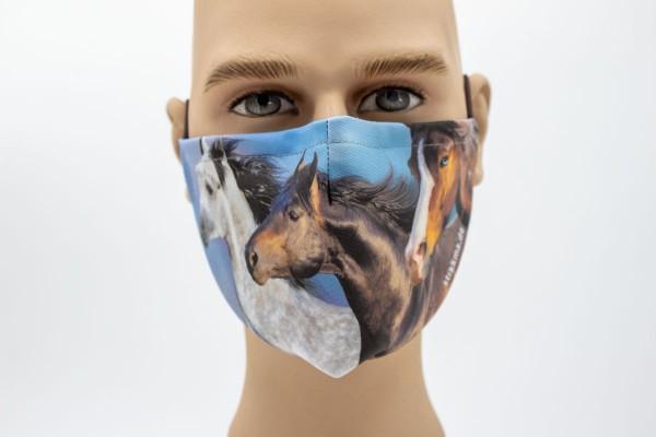 laufende Pferde Mund- Face Pad Premium - Mund- Nasen. Behelfsmaske