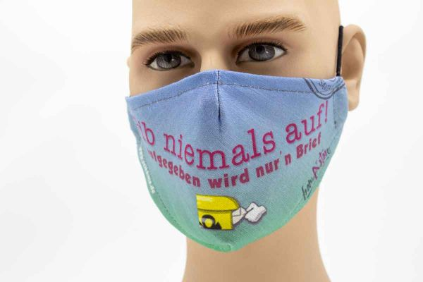 Gib niemals auf - Face Pad Premium - Mund- Nasen. Behelfsmaske