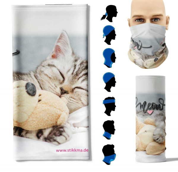 Multifunktionstuch Meow Face Pad+