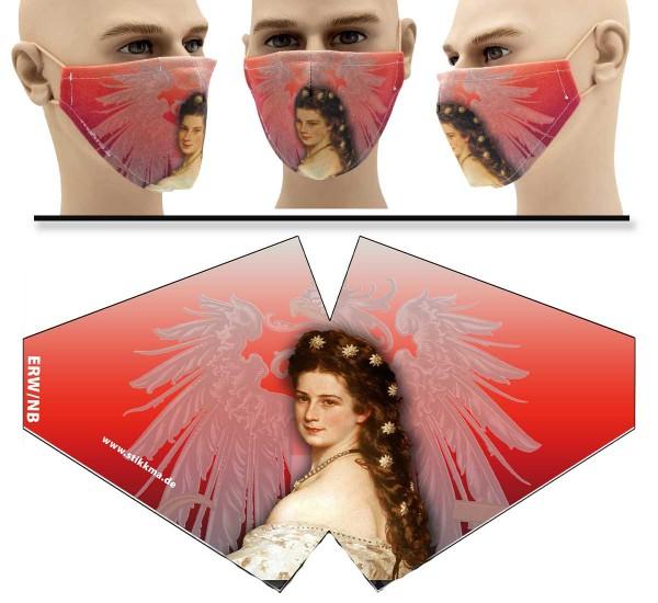 Gesichtsmaske Face Pad Kaiserin Sissi Mund- Nasen. Behelfsmaske