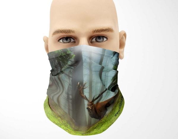 Multifunktionstuch Face Pad+ Hirsch Wald Mund- Nasen- Behelfsmaske Gesichtsmaske